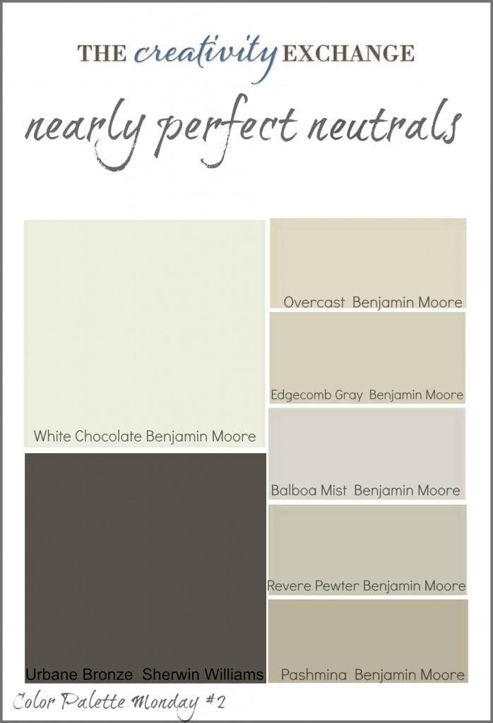 Readers 39 favorite paint colors color palette monday for Neutral color palette interior design