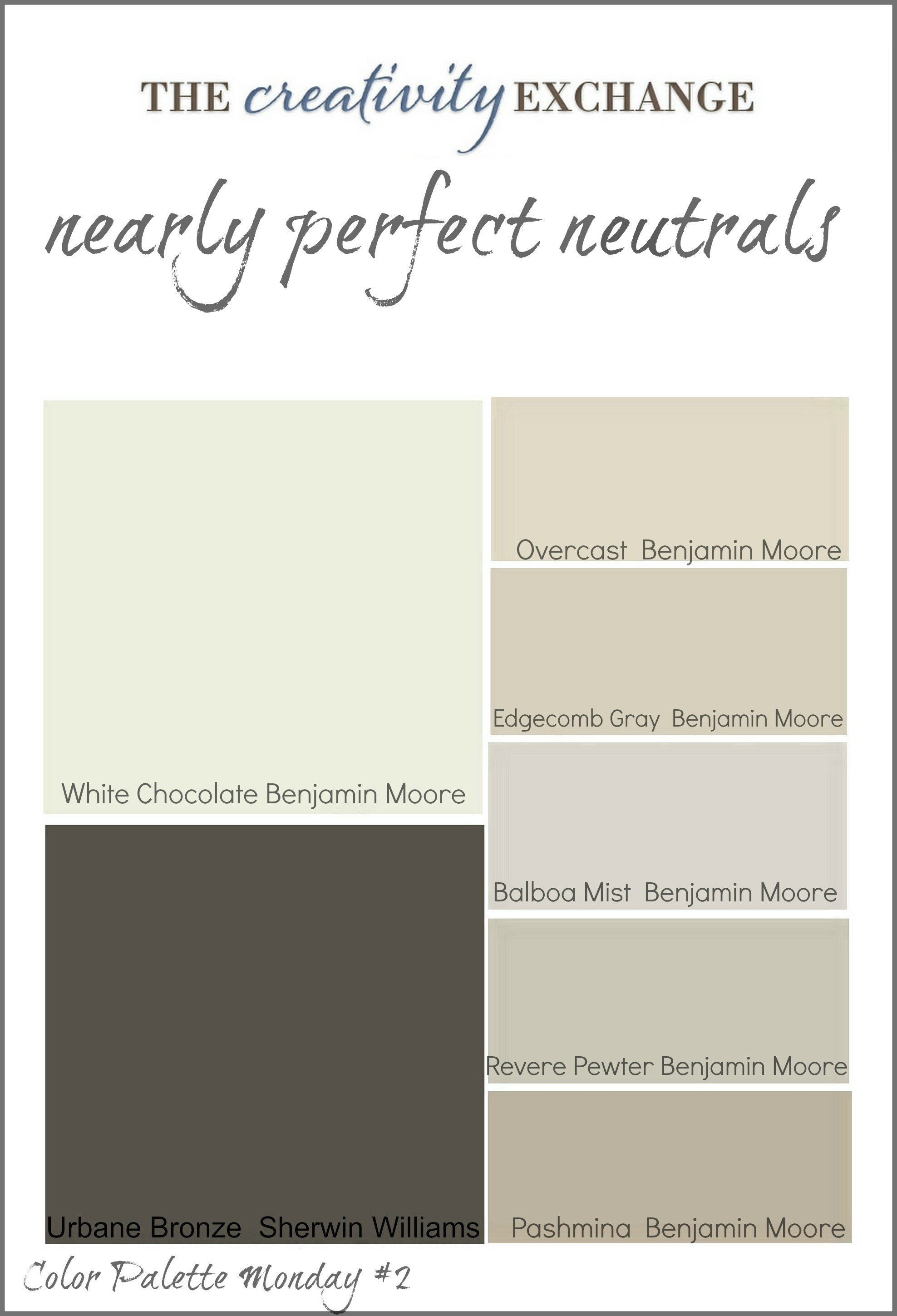 Readers 39 favorite paint colors color palette monday for Neutral interior colors