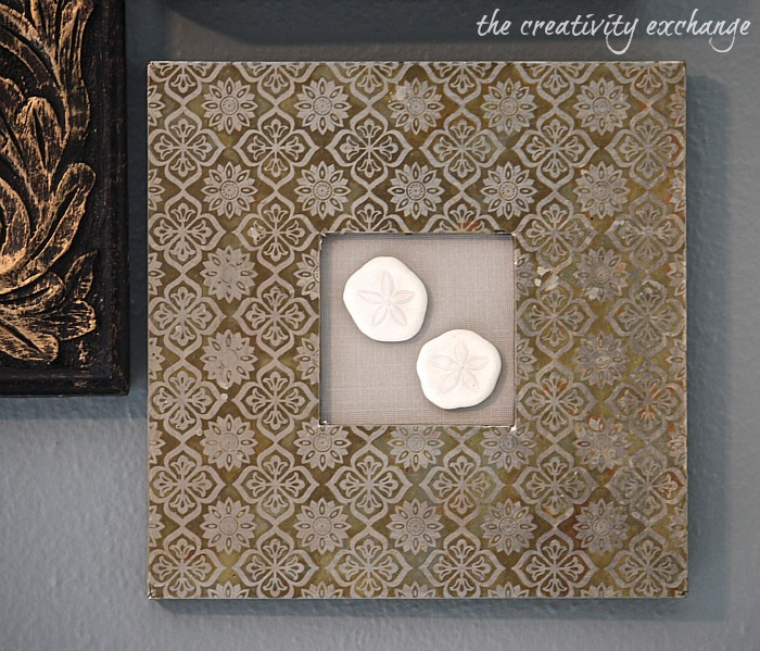 display special shells in small open frames with textured mats the creativity exchange