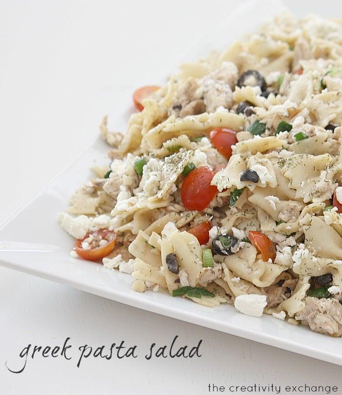 Easy Greek Pasta Salad (The Creativity Exchange)