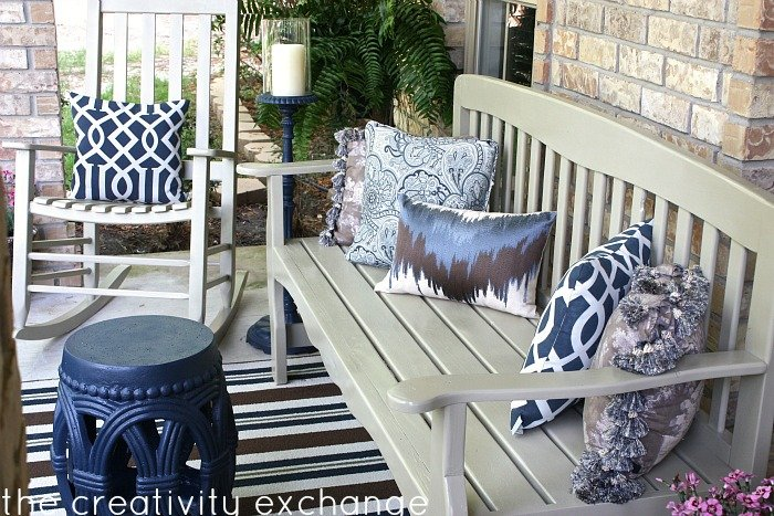 Front Porch Bench Curb Appeal