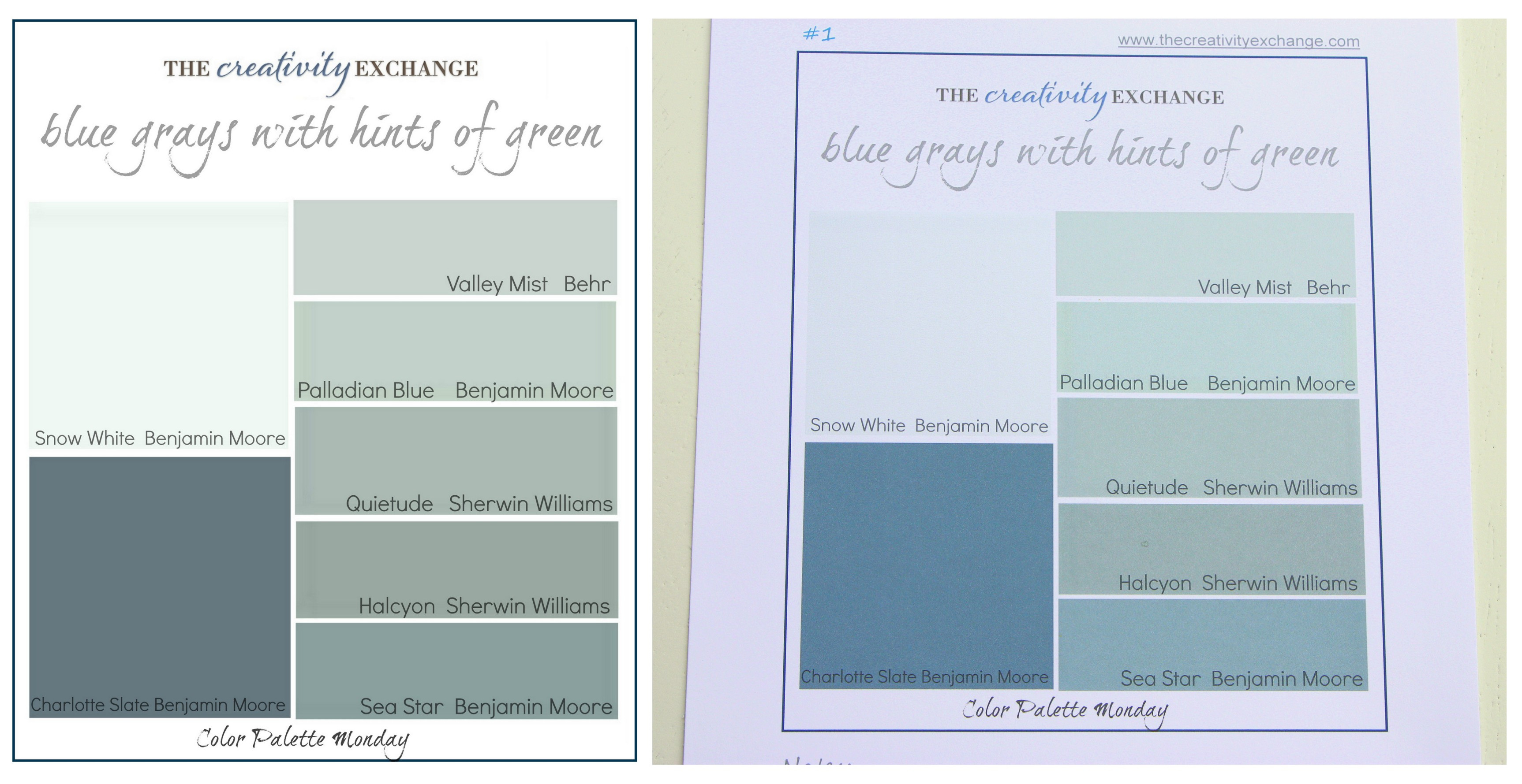 Benjamin moore palladian blue bathroom - Color Palette Monday 1 The Creativity Exchange