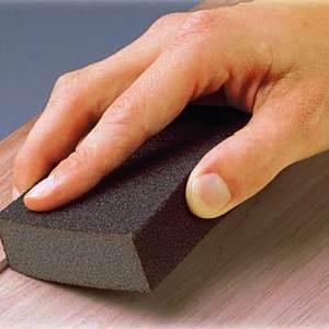 Sanding sponge makes it so easy to hand sand.