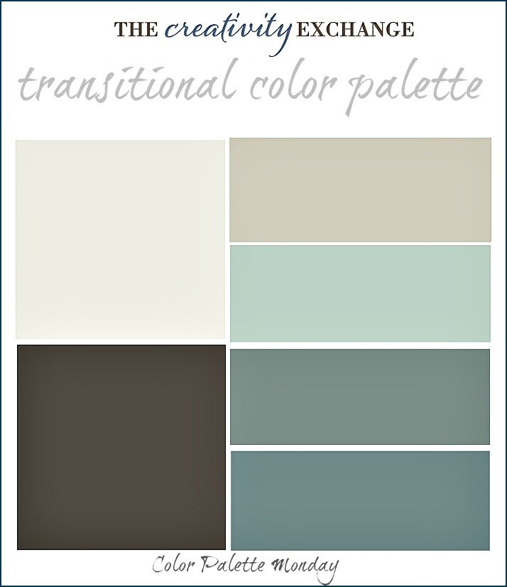 Transitional Paint Color Palette (Color Palette Monday #3)..
