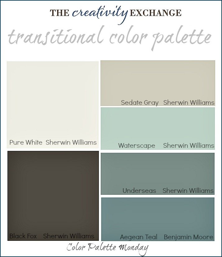 Transitional Paint Color Palette Monday 3 The Creativity Exchange