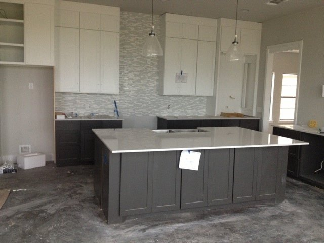 Edgecomb Grey Kitchen Cabinets