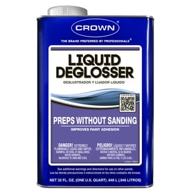 Liquid deglosser preps a surface without having to sand much