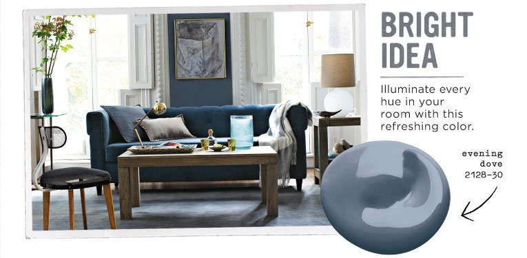 Dependable dark blue paint colors for Old west color palette