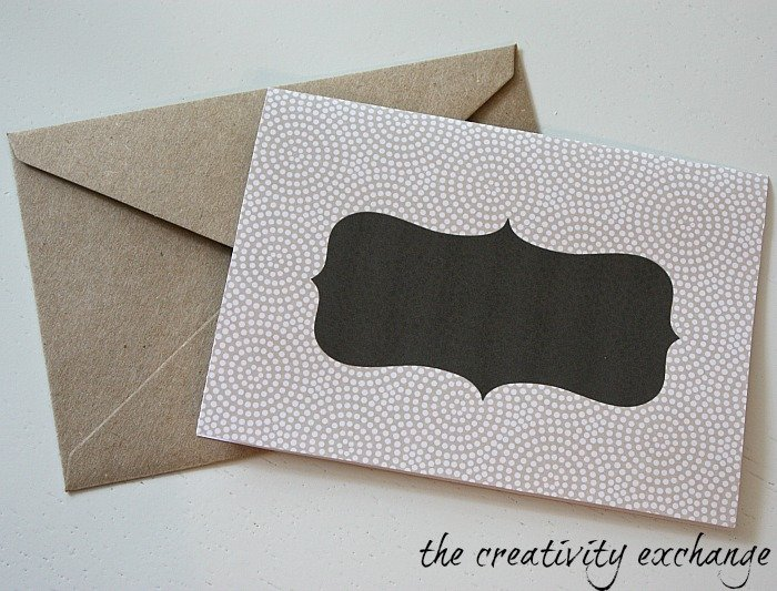 free printable chalkboard note cards and tags {The Creativity Exchange}