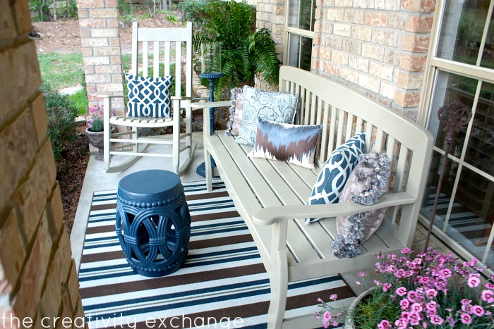 My Front Porch Transformed with Spray Paint…
