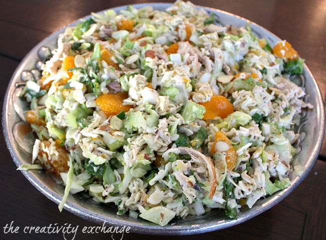Chinese Chopped Chicken Salad - {The Creativity Exchange}