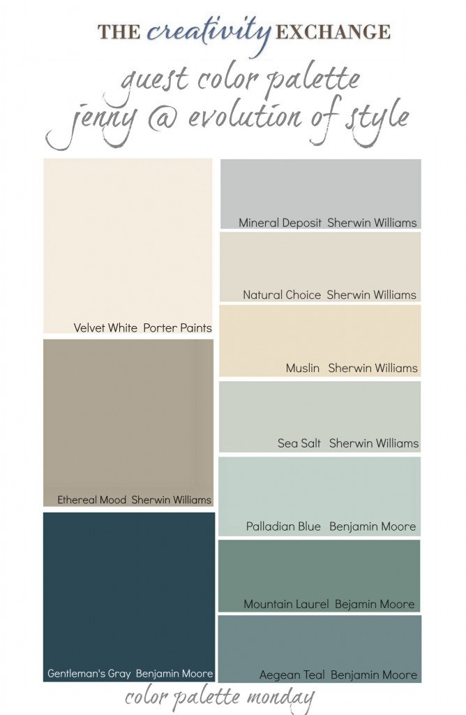 Gettysburg gray kitchen cabinets - Collection Of Warm Transitional Paint Colors Color Palette Monday