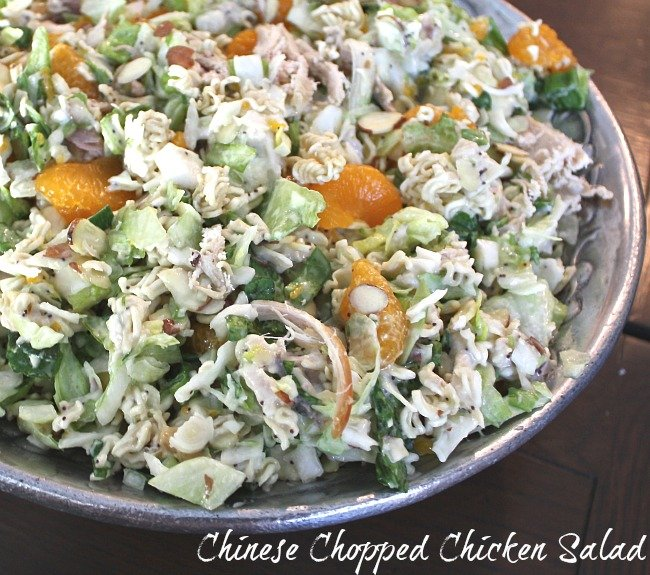 Easy Chinese Chopped Chicken Salad {The Creativity Exchange}