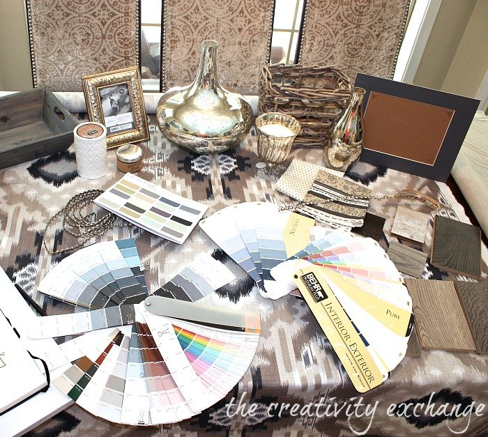 How to create a paint color palette {The Creativity Exchange}