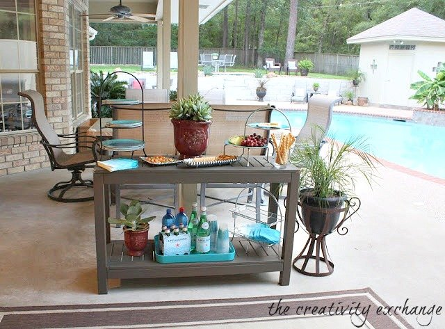 Great Outdoor Side Table Turned Buffet The Creativity Exchange