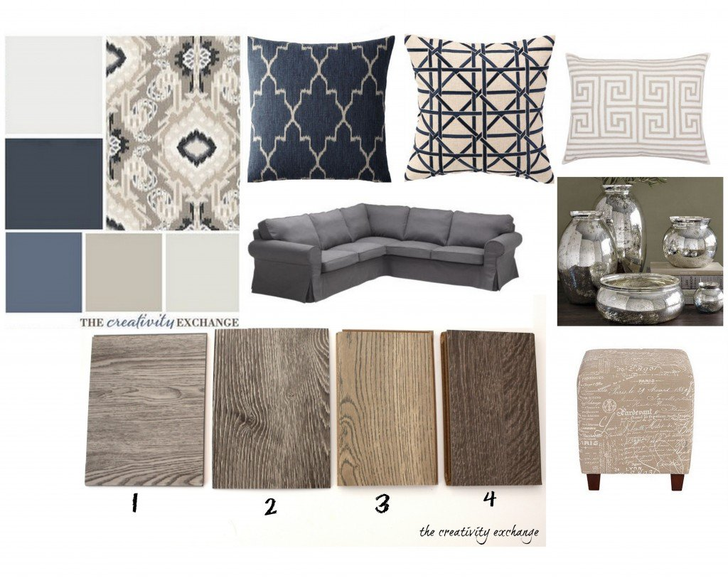 Office/craft room revamp plan.  Flooring choices {The Creativity Exchange}