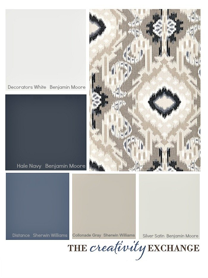Choosing a paint color palette using fabric inspiration for Dining room colour inspiration