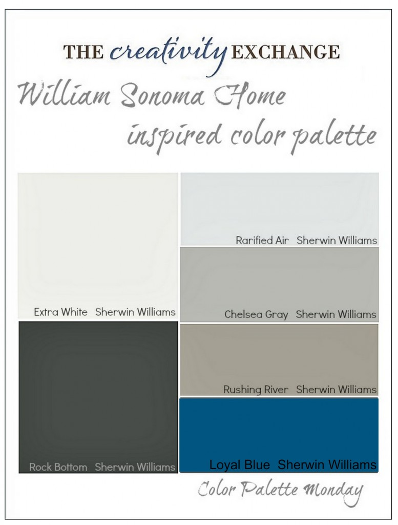 William Sonoma Home Inspired Paint Color Palette