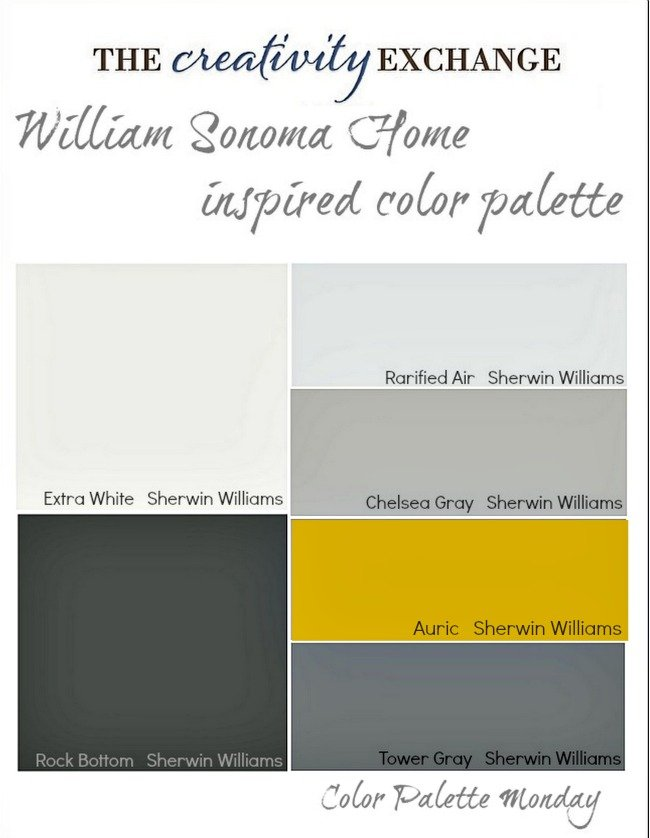 William Sonoma Home Inspired Paint Color Palette {Color Palette Monday}
