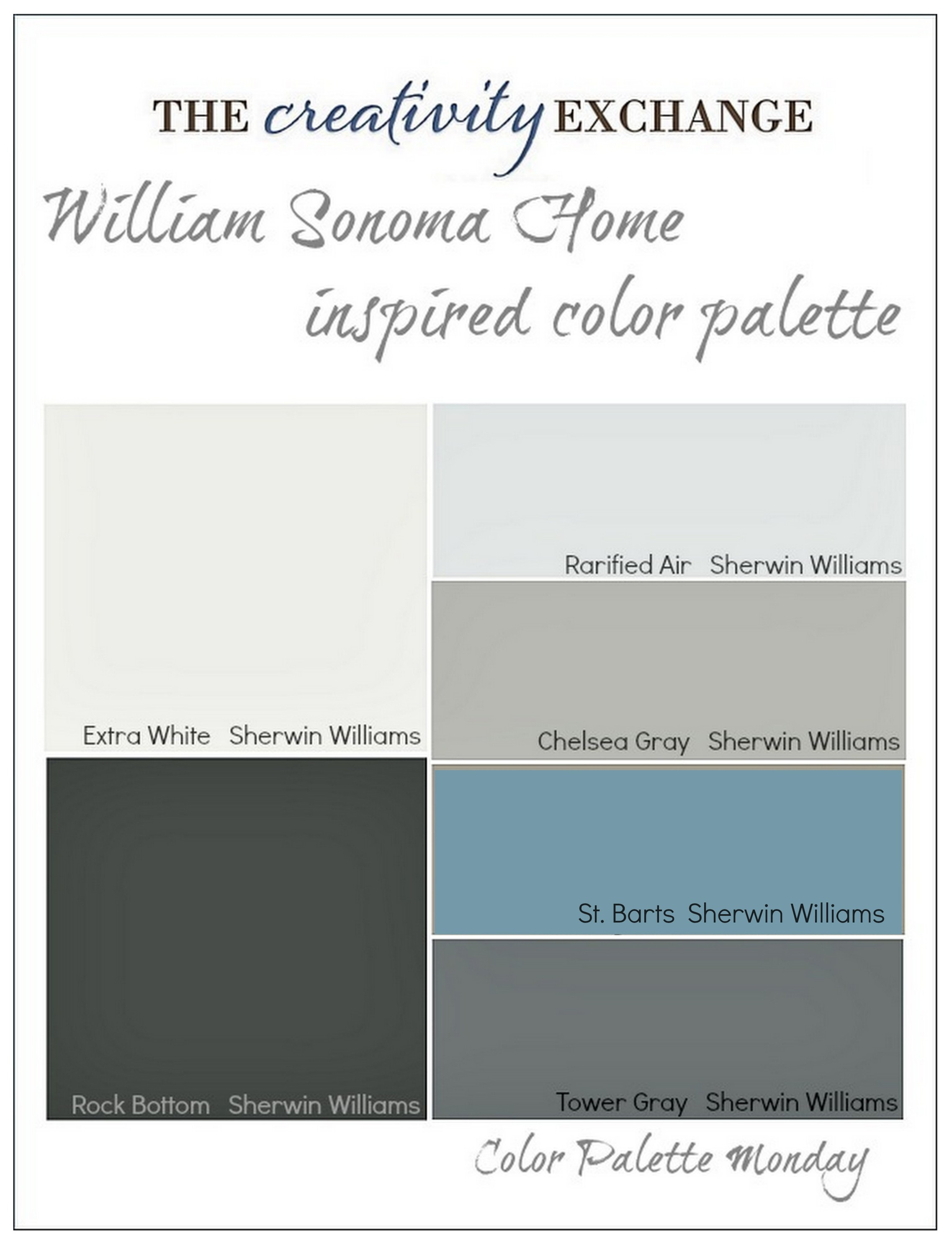 Home Decor Color Palettes home decor color palettes with good images about color palette ideas on fresh William Sonoma Home Inspired Paint Color Palette Color Palette Monday