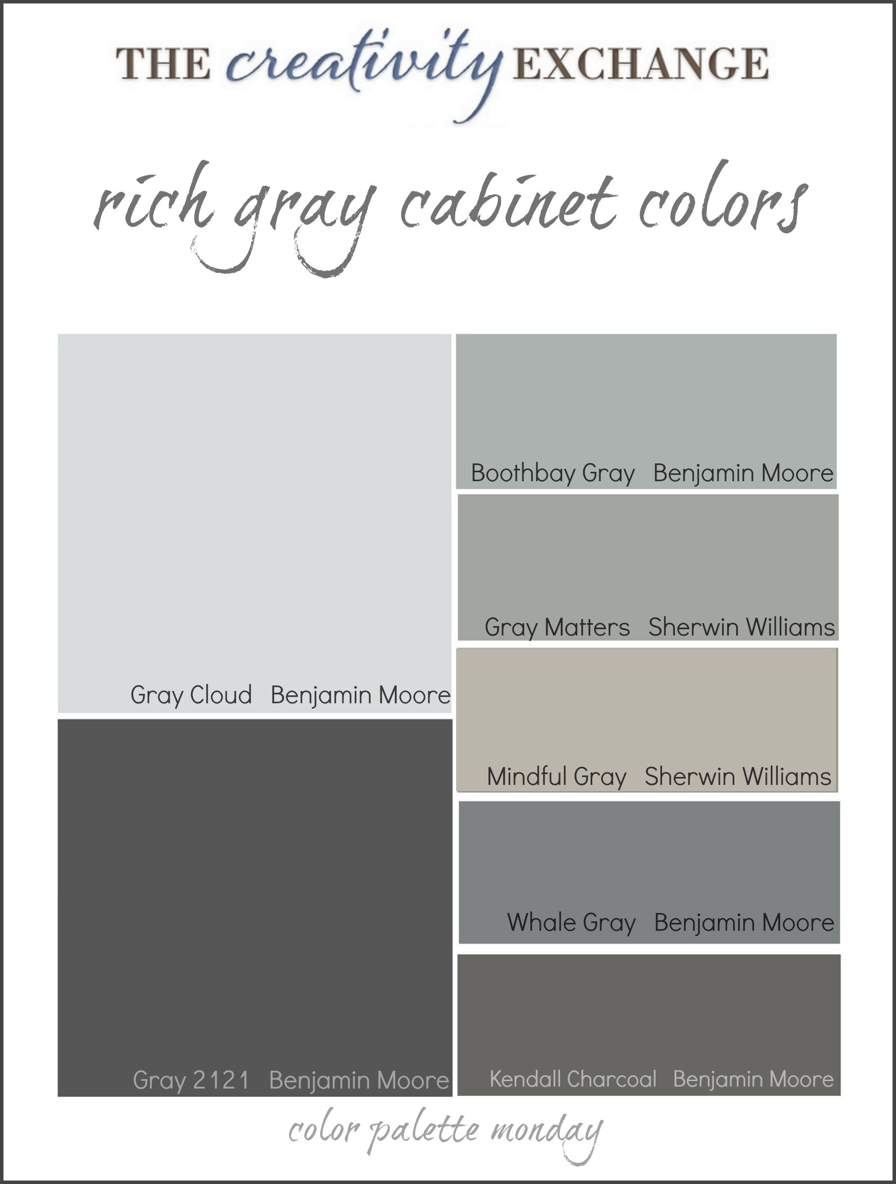 Sherwin williams popular greys - Collection Of Some Of The Most Popular Gray Paint Colors Used For Painting Cabinets Vanities