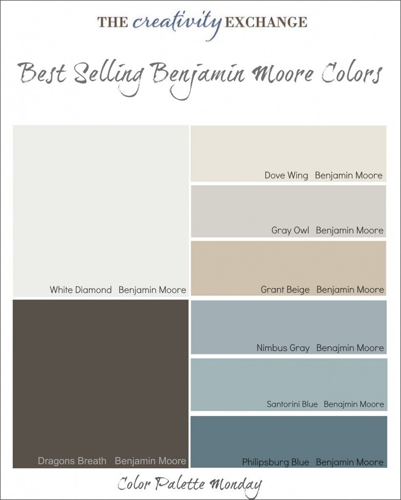 Best Ing Benjamin Moore Colors Color Palette Monday The Creativity Exchange
