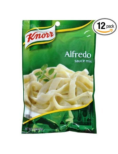 Knorr's Alfredo Sauce Packet. Trick to make creamy pasta sauces without the fat! {The Creativity Exchange}