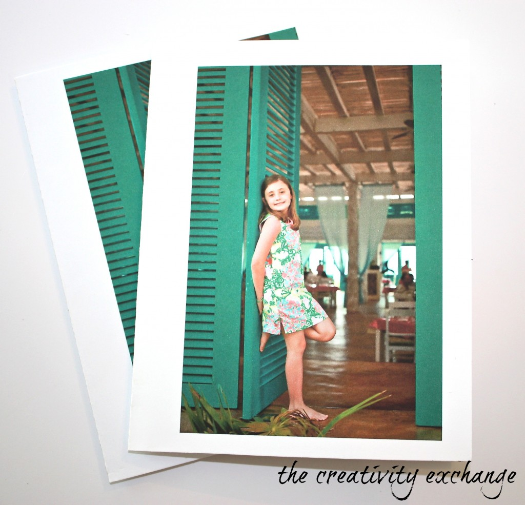 Print photos on smooth cardstock to make personalized cards {The Creativity Exchange}
