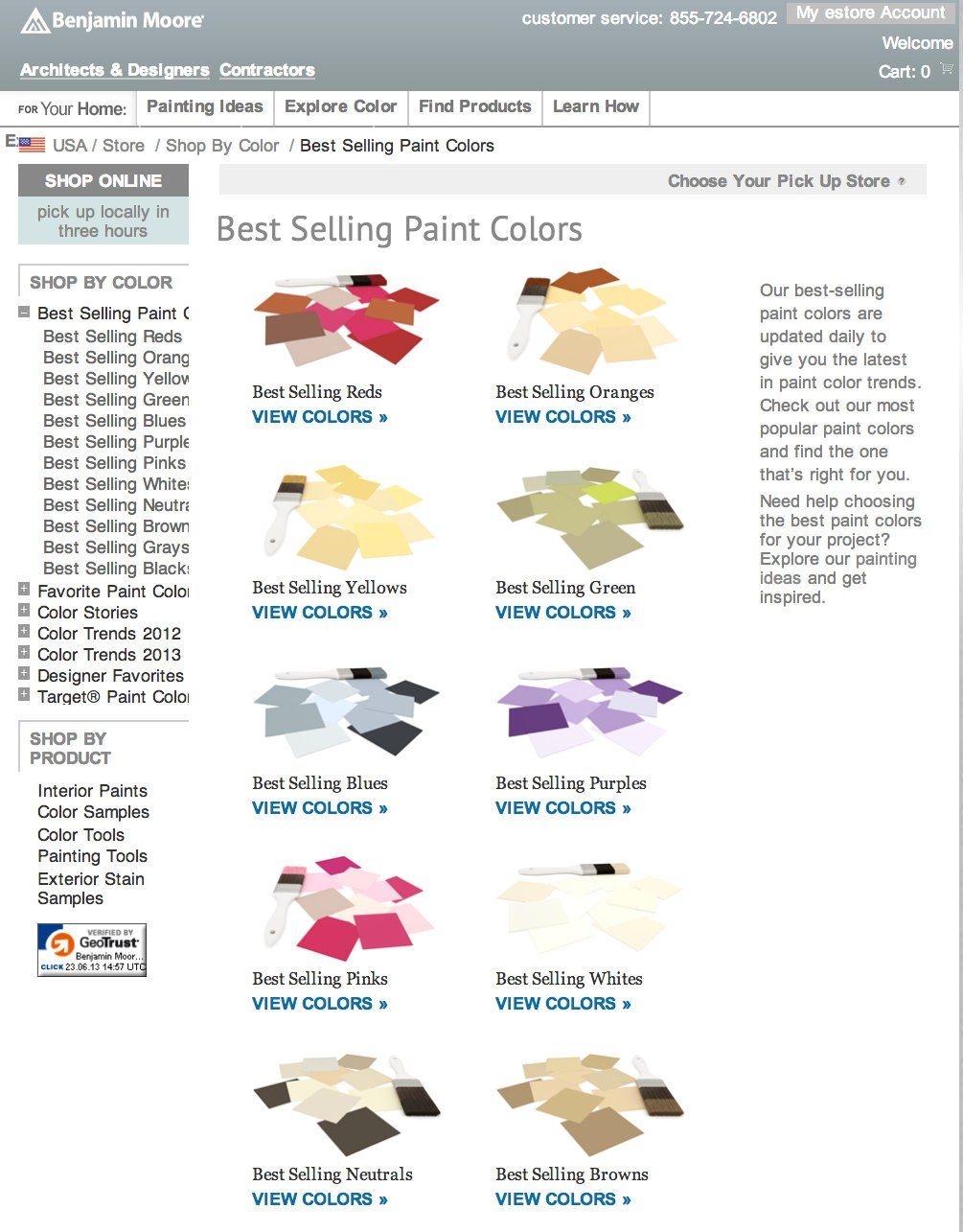 Best Selling Car In Every State Map: Best Selling Benjamin Moore Paint Colors