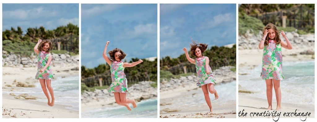 Take four action shots of your kids and create a collage in Picasa