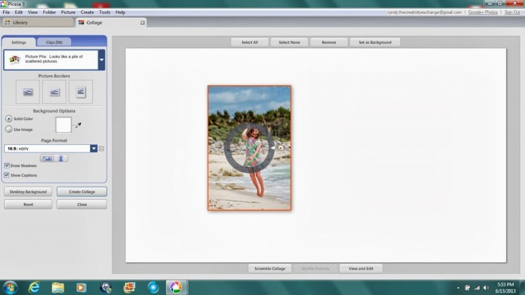 Tutorial for how to create a photo collage in Picasa {The Creativity Exchange}
