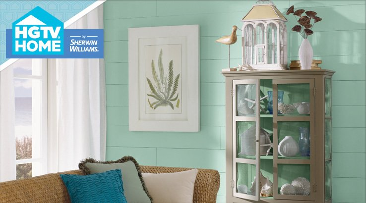hgtv paint colors coastal cool collection. Black Bedroom Furniture Sets. Home Design Ideas