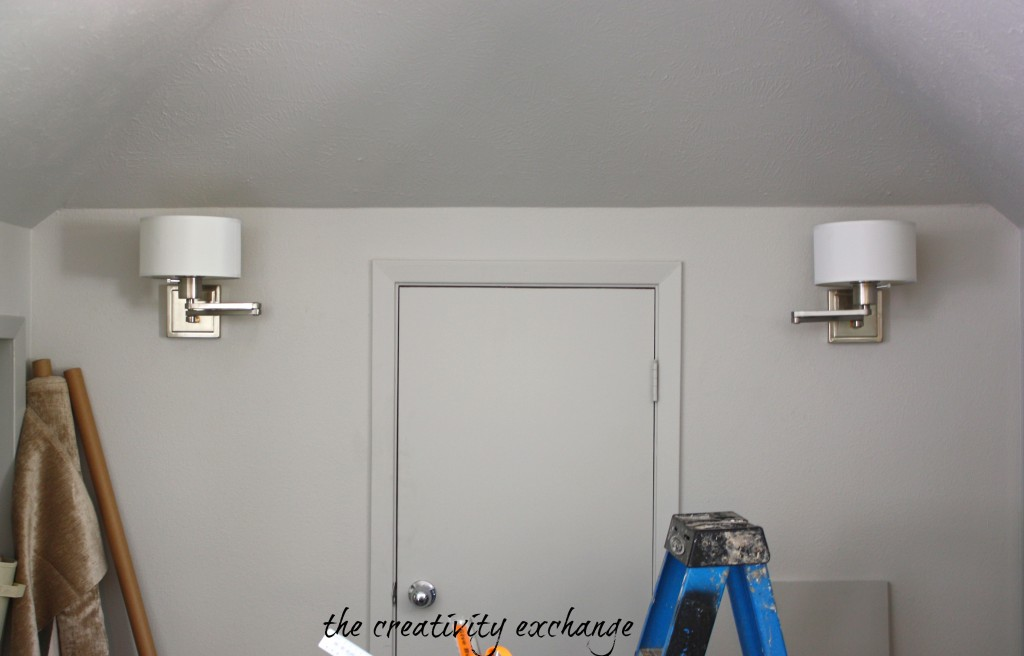 Wall sconces from Lowes- The Creativity Exchange
