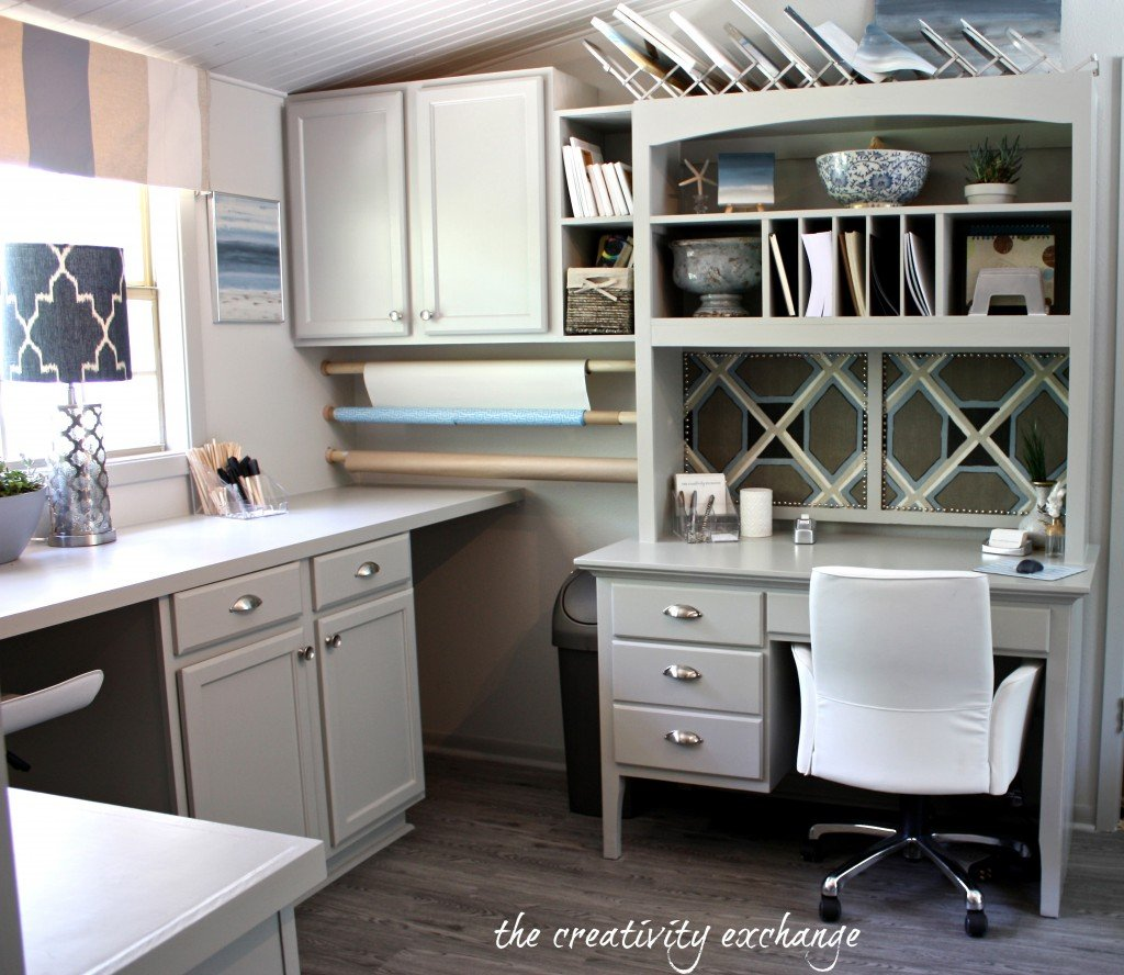 office/craft room revamp project {before and after} The Creativity Exchange