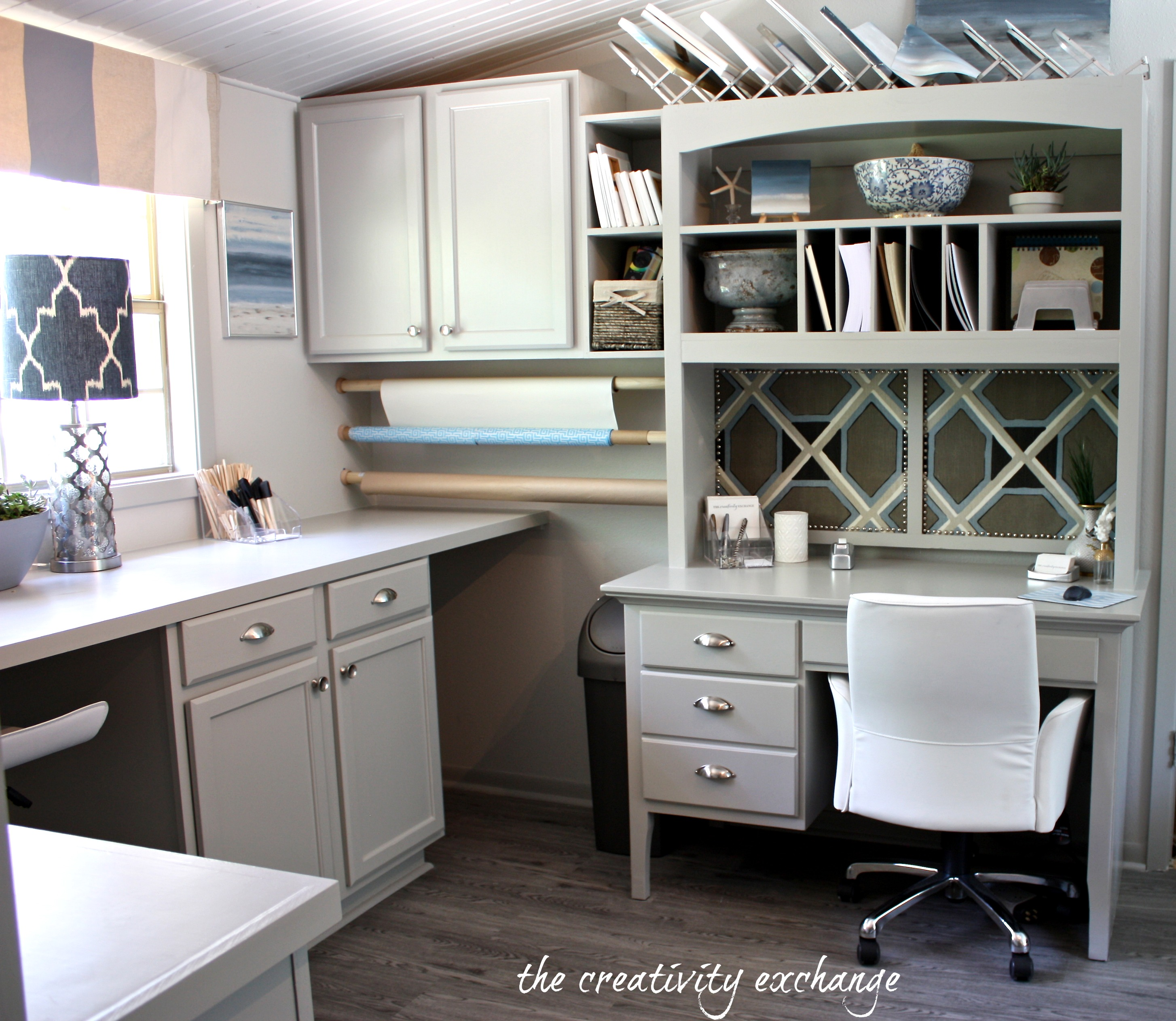 Office Room: Office/Craft/Family Room Reveal {Finally!}