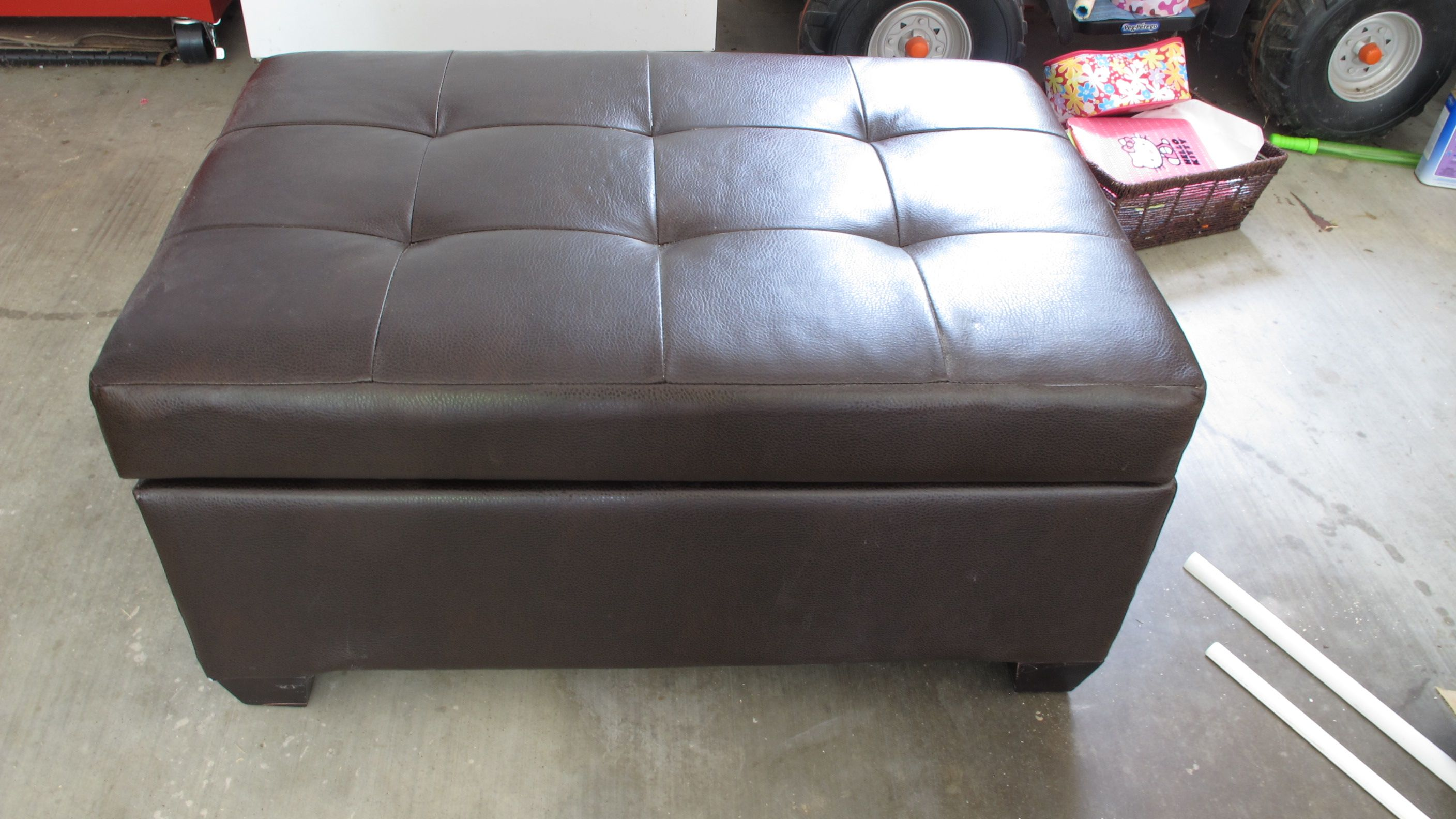 How to build a storage ottoman - How To Make A Slipcover For A Large Ottoman