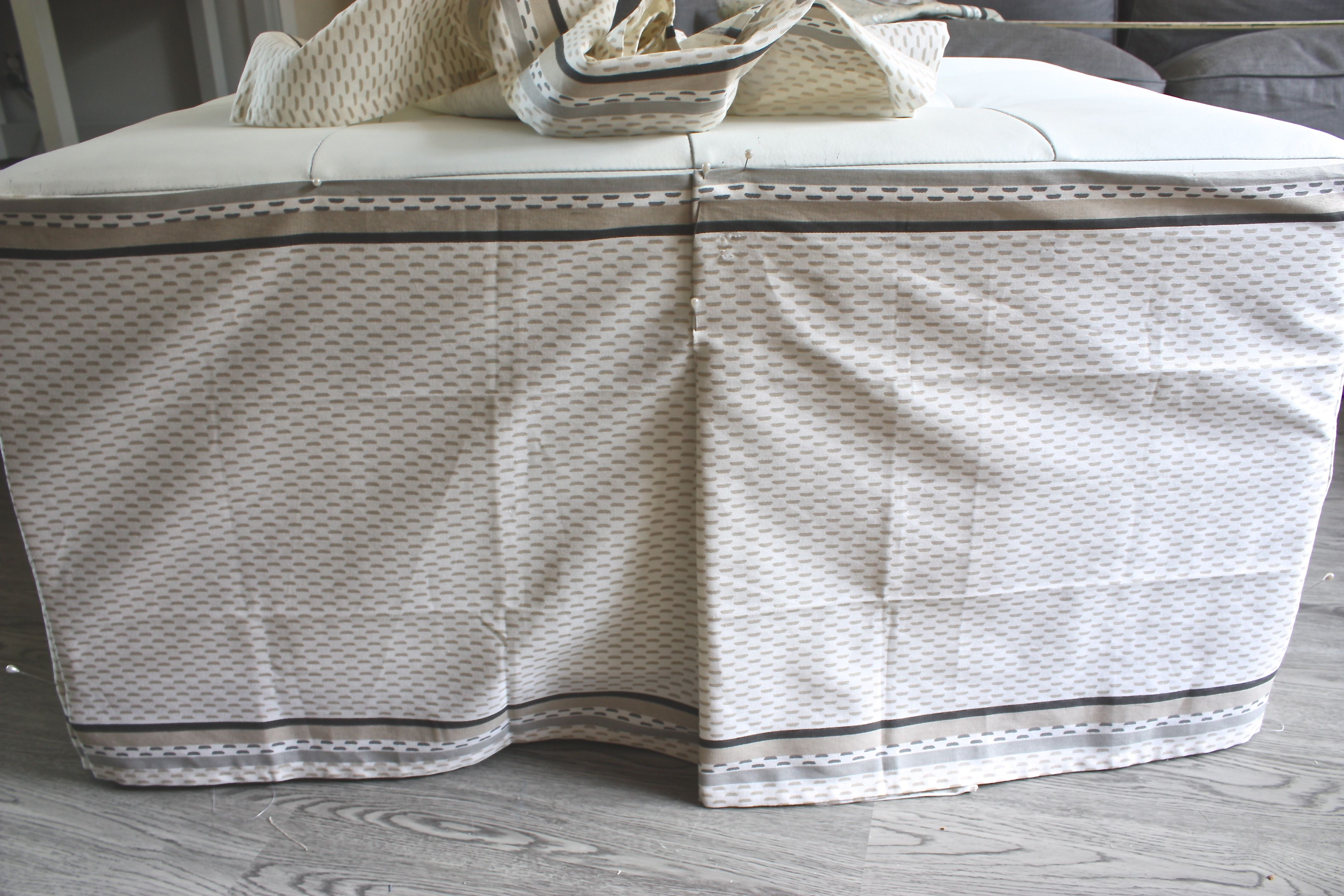 how to make a slipcover for an ottoman the creativity exchange