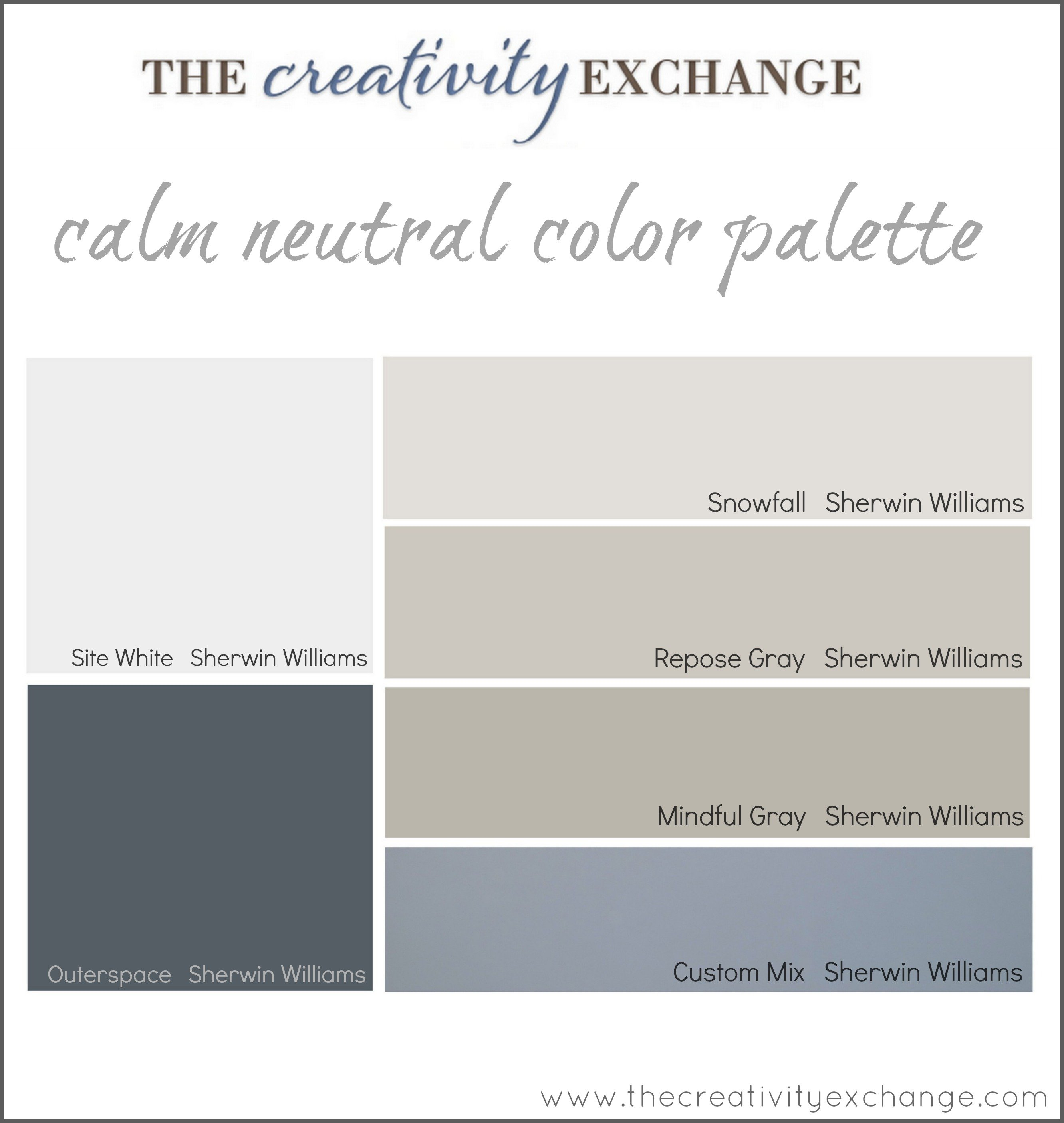 Office/Craft Room Paint Color Palette (Paint It Monday