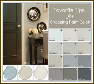 Tricks for choosing paint colors by eliminating undertones and eliminating shades that you know you don't want {The Creativity Exchange}