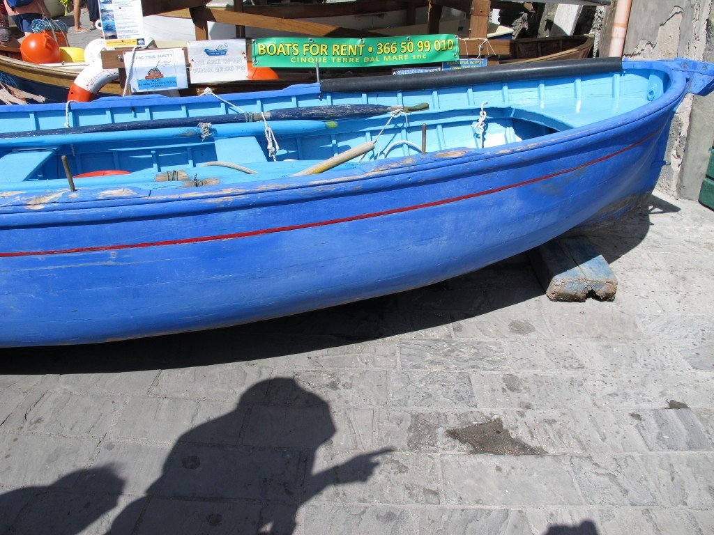 Blue boat in Italy