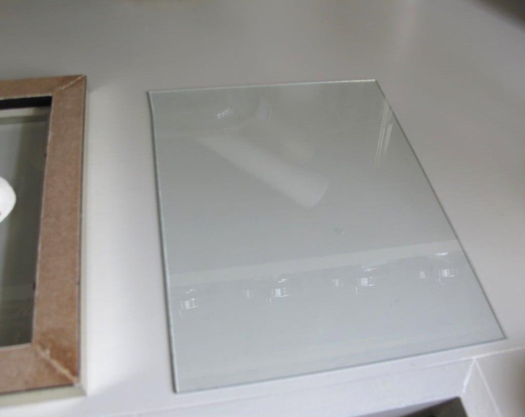 diy sided glass frames for framing shells or dyed