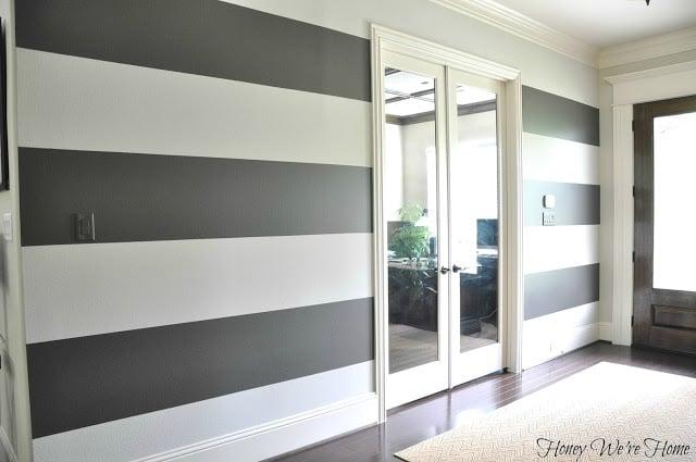 painted wall stripe inspiration. Black Bedroom Furniture Sets. Home Design Ideas