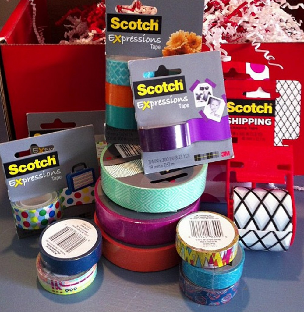 Scotch Expression tapes have come out with chic patterns and colors {The Creativity Exchange} #mostgiftwrapper #ad