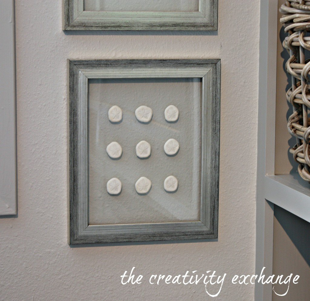 Tutorial for how to make double-sided glass frames for displaying pretty shell collections or dyed sea fans {The Creativity Exchange}