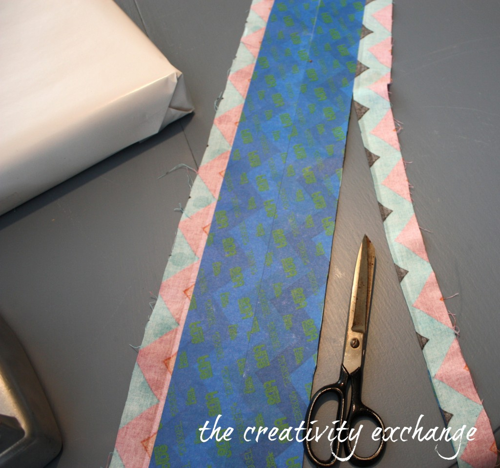 Use fabric scraps to make gift ribbon by using Scotch 3M Edge Lock Blue Tape. It keeps the edges from fraying {The Creativity Exchange}