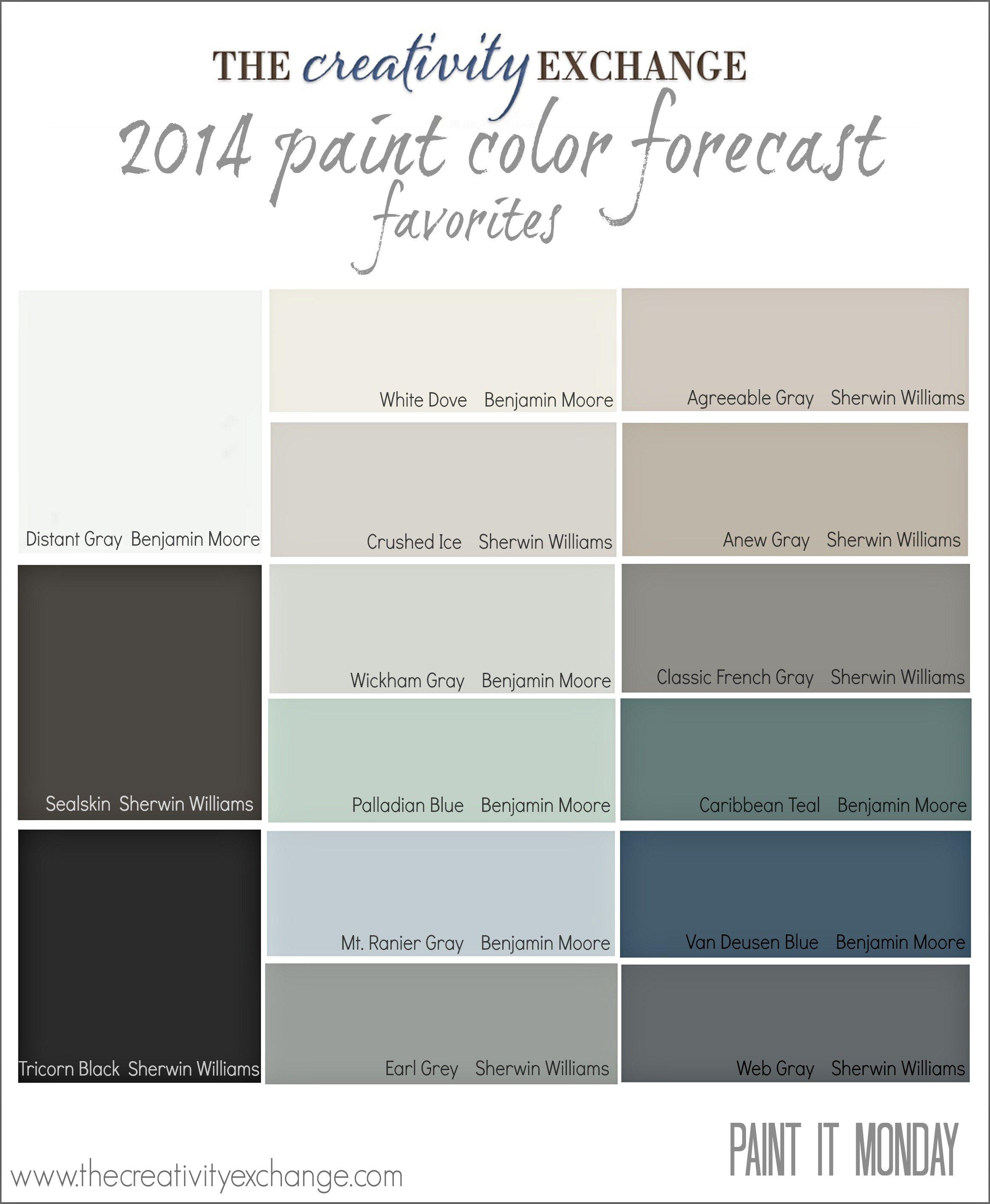 2014 Paint Color Forecast Favorites The Creativity Exchange