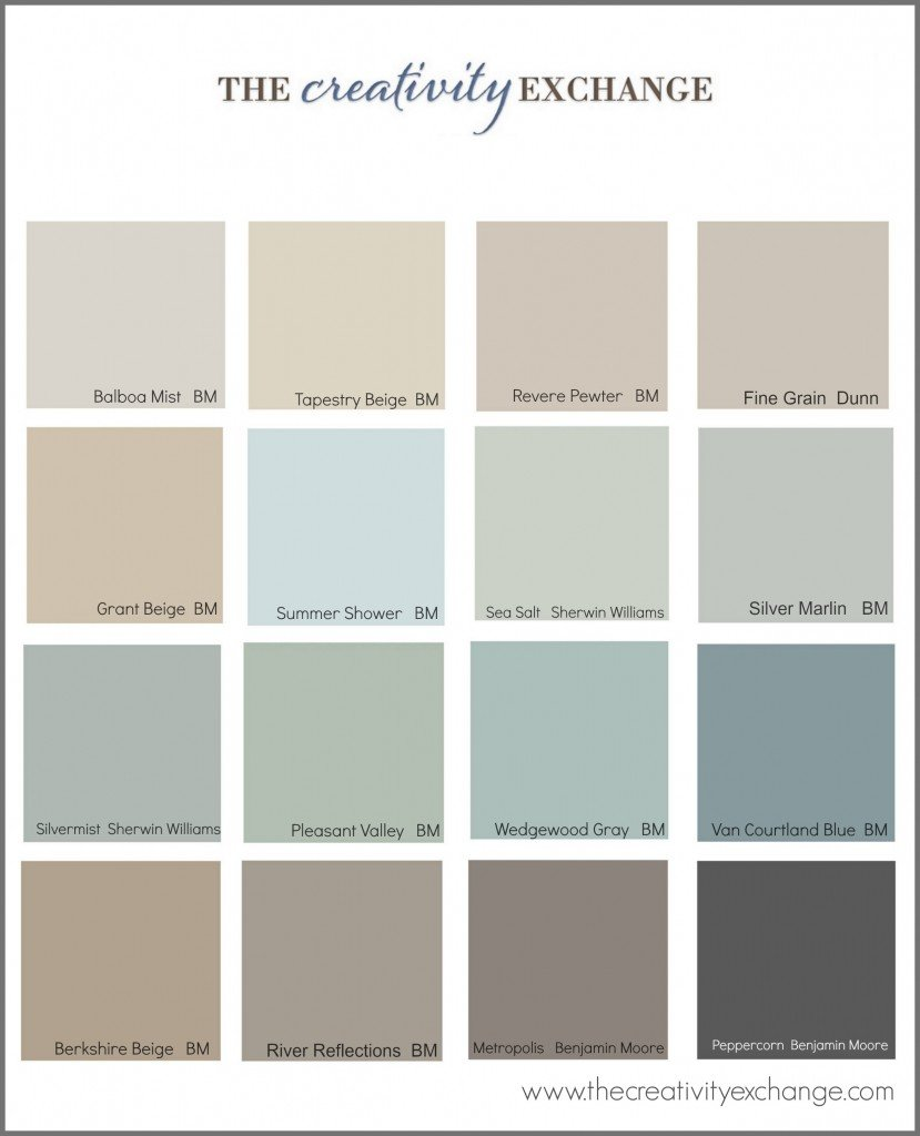 The Most Popular Paint Colors On Pinterest