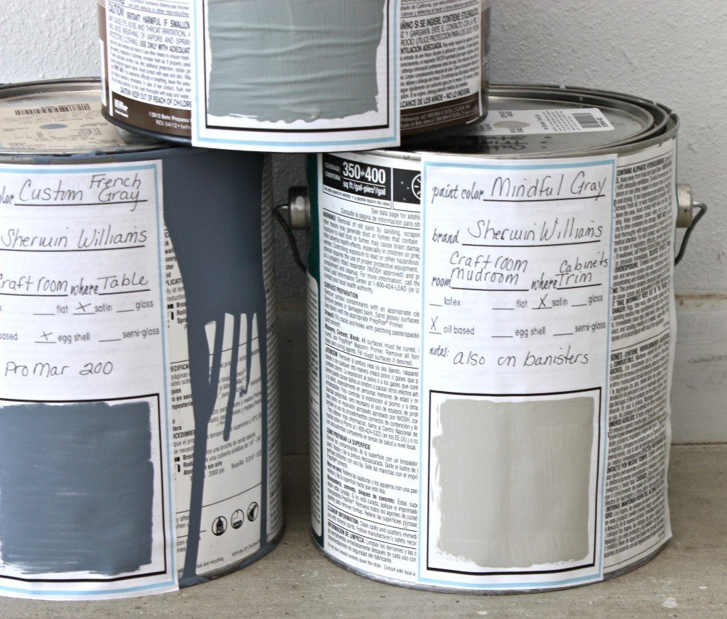 Free printable large paint labels & cards for labeling old paint {The Creativity Exchange}