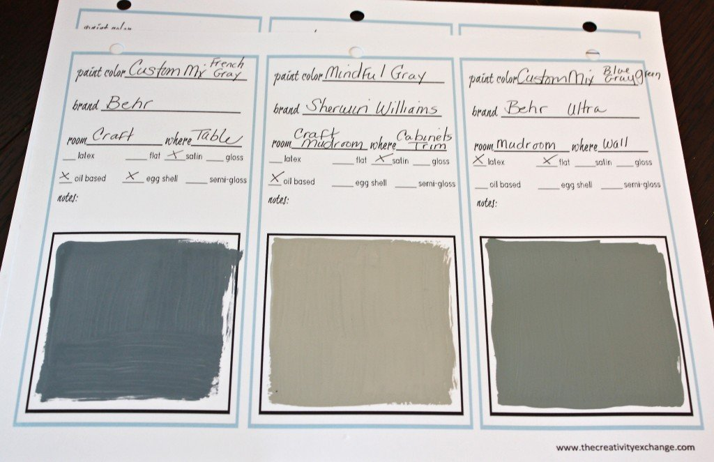 Free printable paint labels & cards for labeling paint. {Paint It Monday} The Creativity Exchange