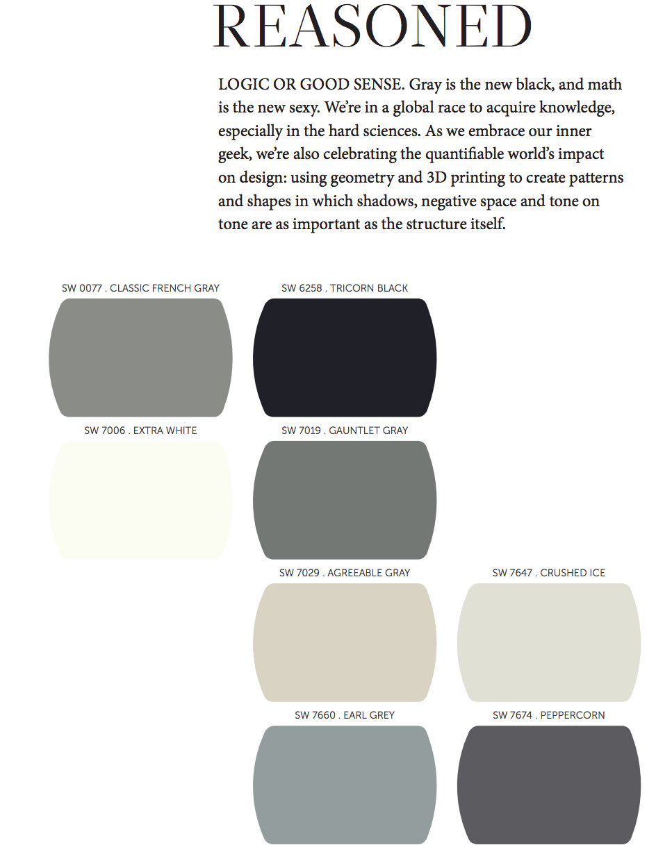 favorites from the 2014 paint color forecast paint it monday. Black Bedroom Furniture Sets. Home Design Ideas